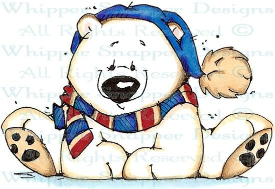Bundled Up Mike - Bears - Animals - Rubber Stamps - Shop