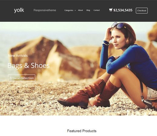 Yolk a Flat ECommerce Bootstrap Responsive Web Template