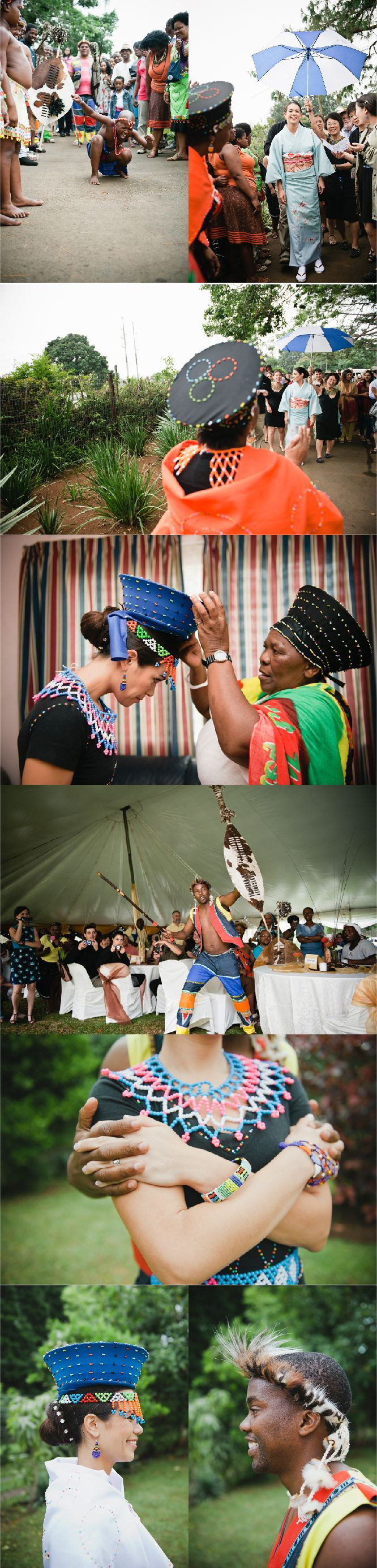 Multicultural Japanese Zulu Wedding by Bright Girl Photo ʕ´•ᴥ•`ʔ http://weddingnouveau.com/2012/11/japanese-zulu-wedding-in-south-africa/