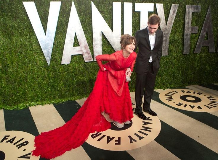 Sally Field and Sam Greisman at the Vanity Fair Oscar Party