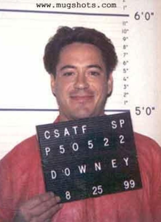Image result for RDJ MUGSHOT
