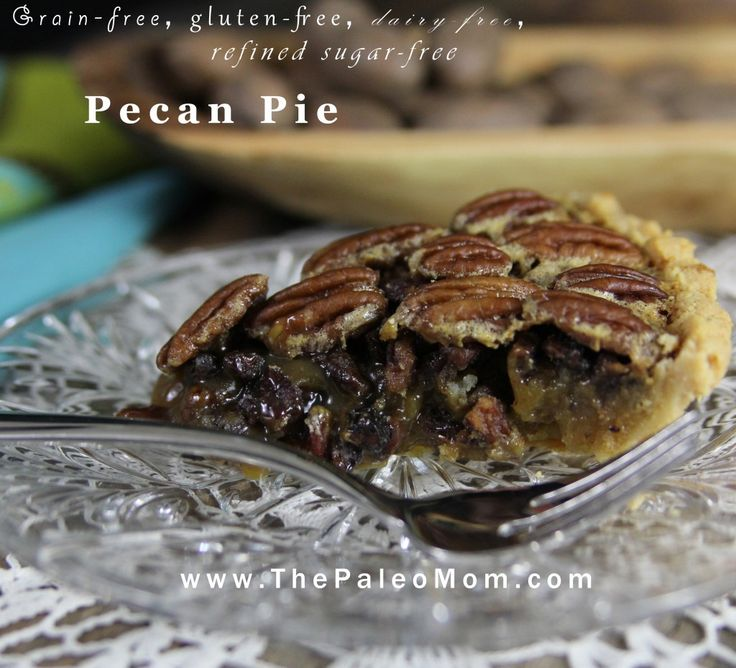 Paleo Pecan Pie | The Paleo Mom (*note to self:  use this crust for the pumpkin pie also)