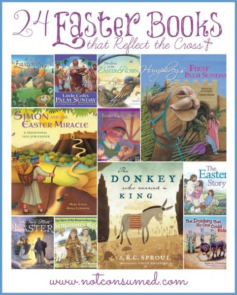 24 Easter Books that Reflect the Cross. My absolute favorites for teaching my children the deep, deep love of Jesus!
