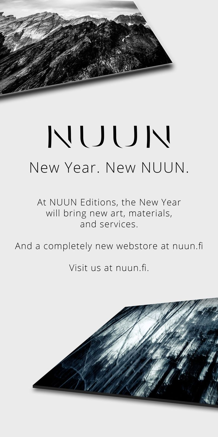 New Year. New NUUN.  Check out what's coming next at www.nuun.fi