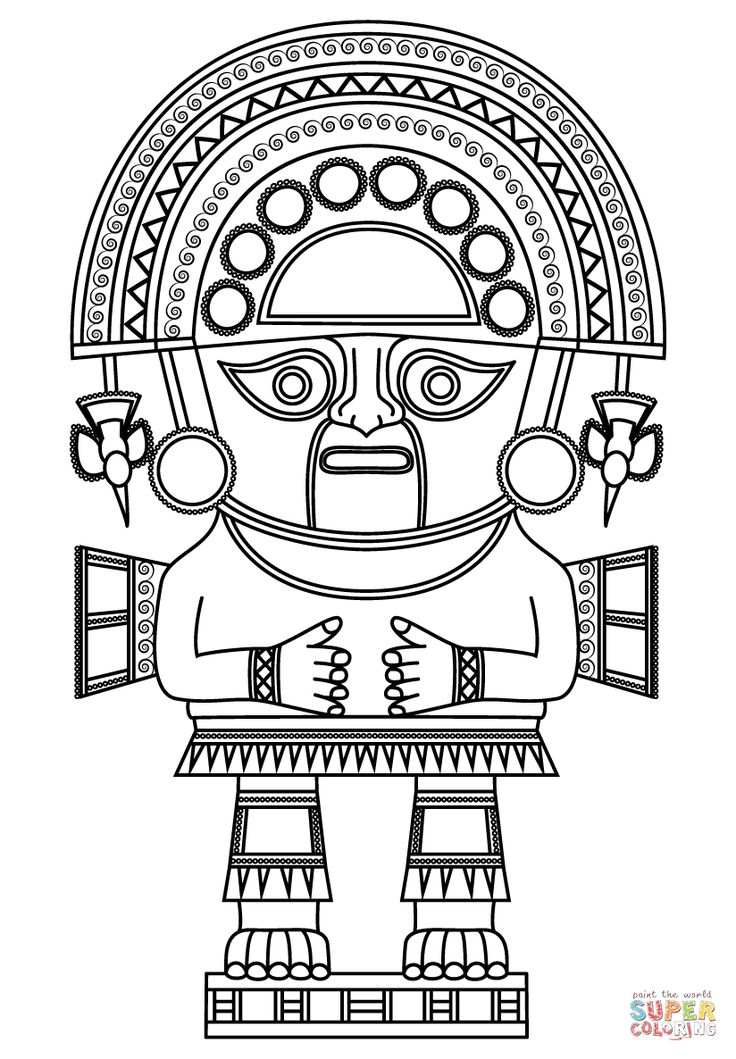 Incas coloring pages ~ Naymlap God King | Super Coloring | Inca in 2019 | Inca ...