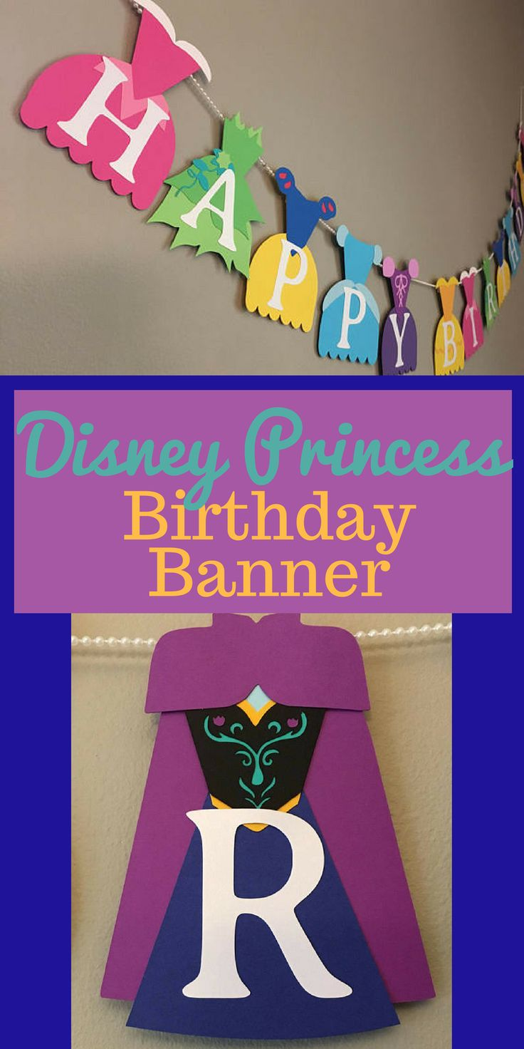 Princess // Disney Princess // Birthday Banner // Frozen // Nursery // Baby // Shower // Princess Dresses // Personalized // Party #affiliate #disney