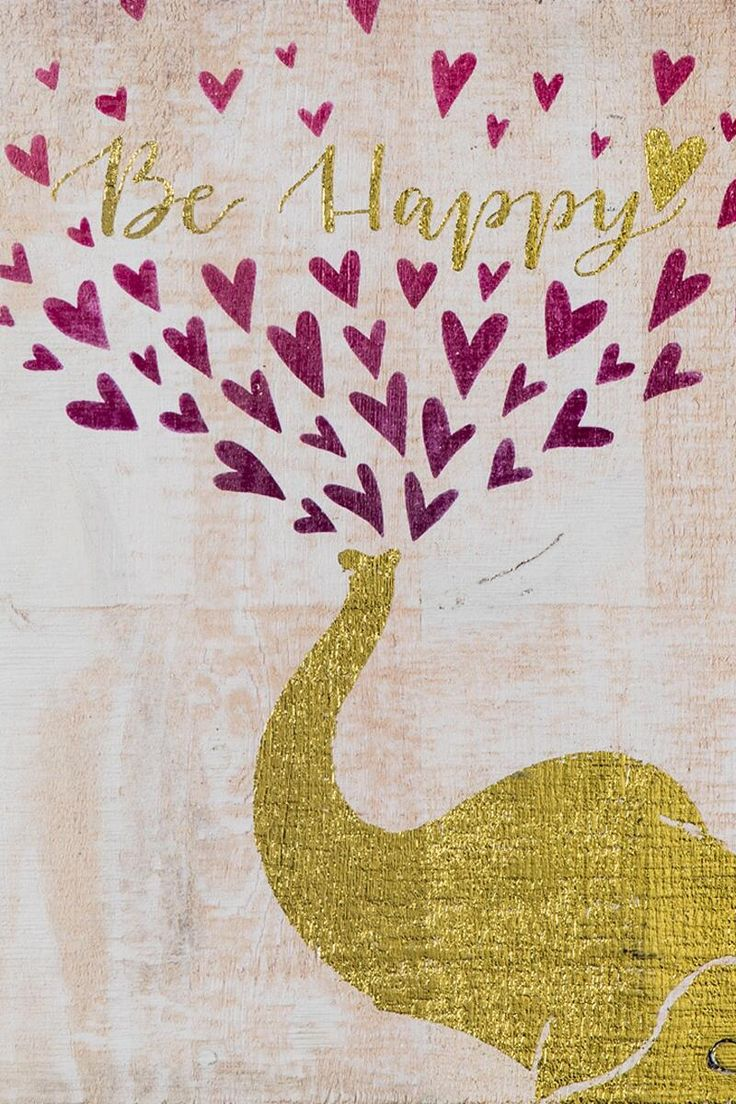 Be Happy Elephant Wood Wall Decor-  gift-clalternate