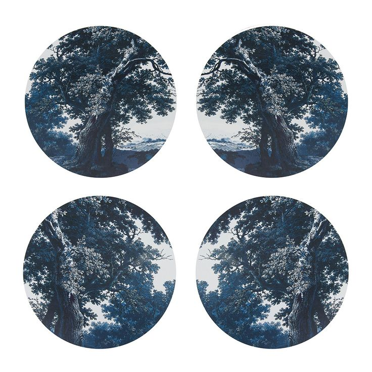 Discover+the+Boho+&+Co+Trees+Two+ #Blue #Placemats +Set+of+4+at+Amara