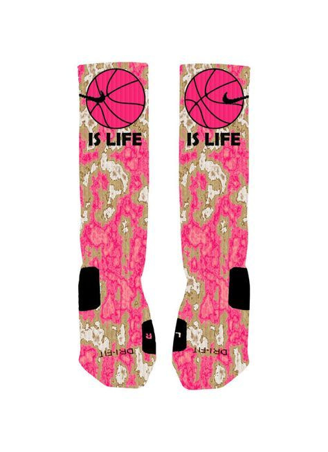 Basketball Custom Nike Elites Socks Basketball by NikkisNameGifts, $25.00 #ESCHERPE #SCARVES