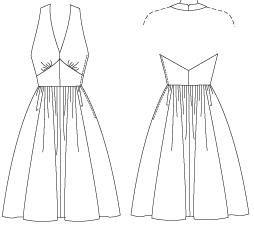 Выкройка платье с открытой спиной