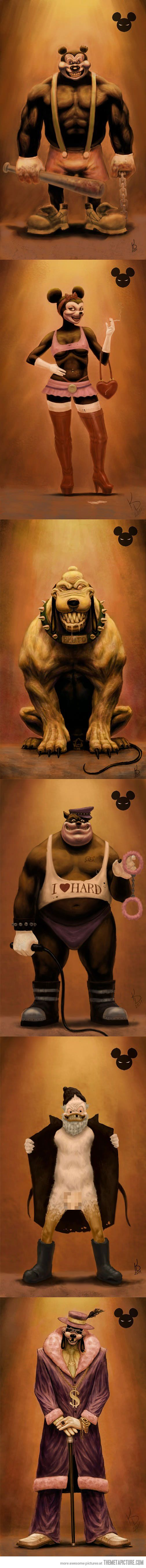Disney main characters turn Evil. Pluto is great