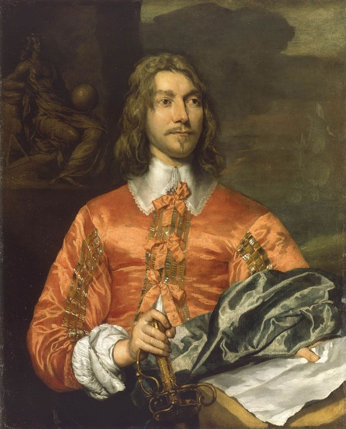 William Dobson, Portrait of a Marine Officer (or Portrait of a Royalist) 1643
