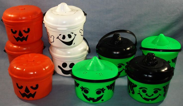 1990s halloween ads | MCDONALDS HALLOWEEN GHOSTS PUMPKINS WITCHES PAILS BUCKETS - Vintage ...