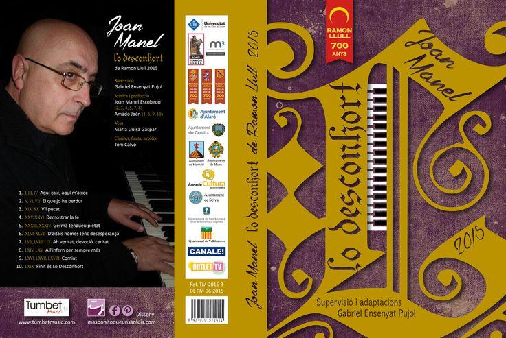 """Carátula de CD desplegada ☺︎ """"Lo Desconhort"""" de Joan Manel (Tumbet Music), diseño de CD/CD cover design by MÁS BONITO QUE UN SAN LUIS."""