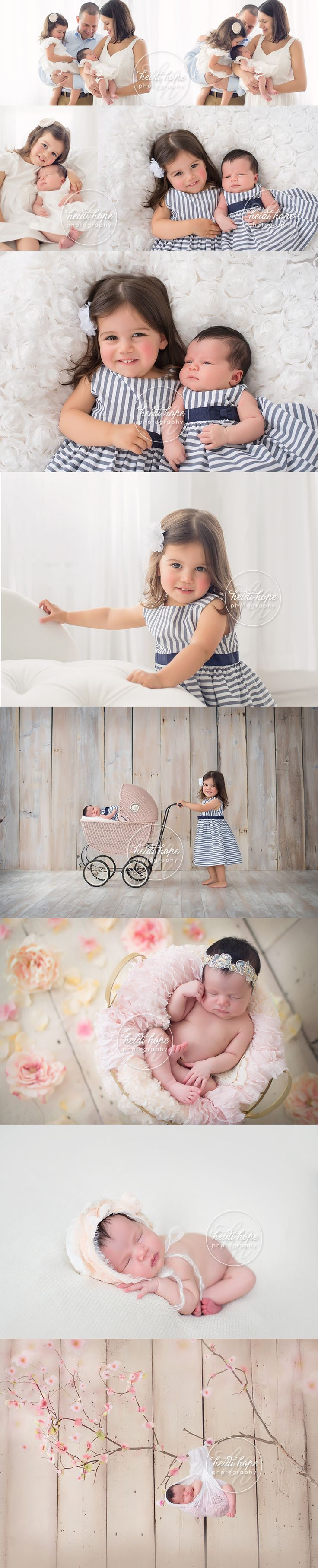Newborn baby R and her 2 year old big sister steal the show! #inspiration #adorable #family #photography