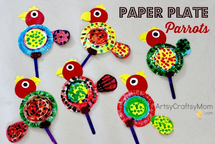 how to make a paper parrot easy