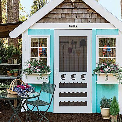 Beach Inspired Garden Shed!