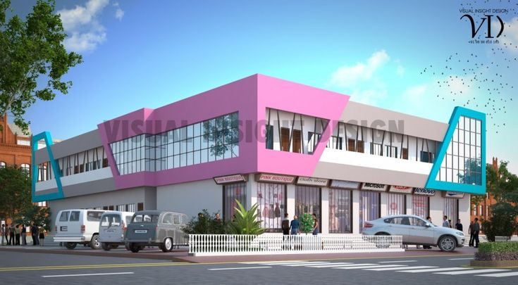 7520 sq ft Stunning Commercial Building Design by VISUAL INSIGHT DESIGN