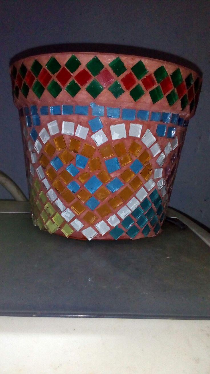 glass mosaic pots