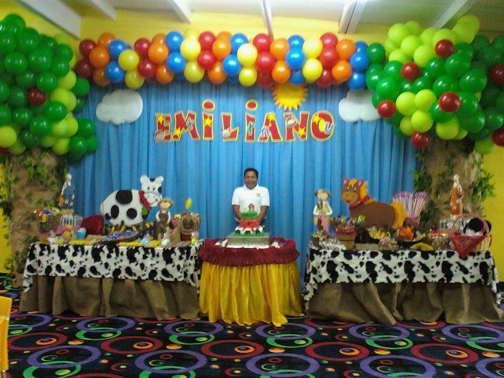 Cumplea os de granja fiestas para ni os pinterest for Decoraciones para fiestas