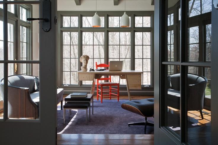 Nice desk.: Interior Design, Uxus Design, Window, Interiors, House, Wilton Residence, Room