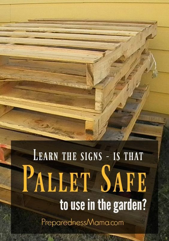 Pallet Safety: Reclaimed wood is good, but not at the expense of your health. Learn how to read pallet labels and know if they are chemically treated. | PreparednessMama