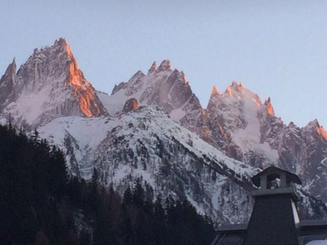 Stunning views of the mountains in Chamonix