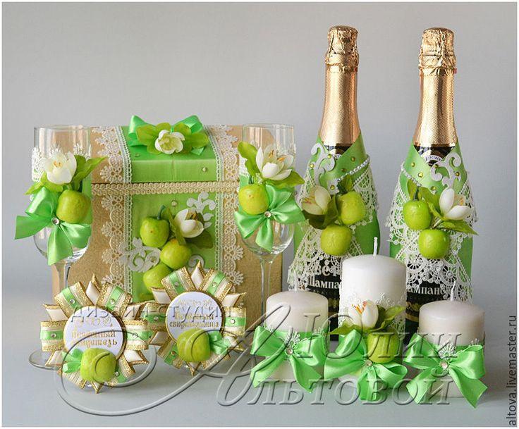 Купить Свадебные аксессуары для яблочной свадьбы - свадебные аксессуары, свадебные коллекции, свадебные наборы