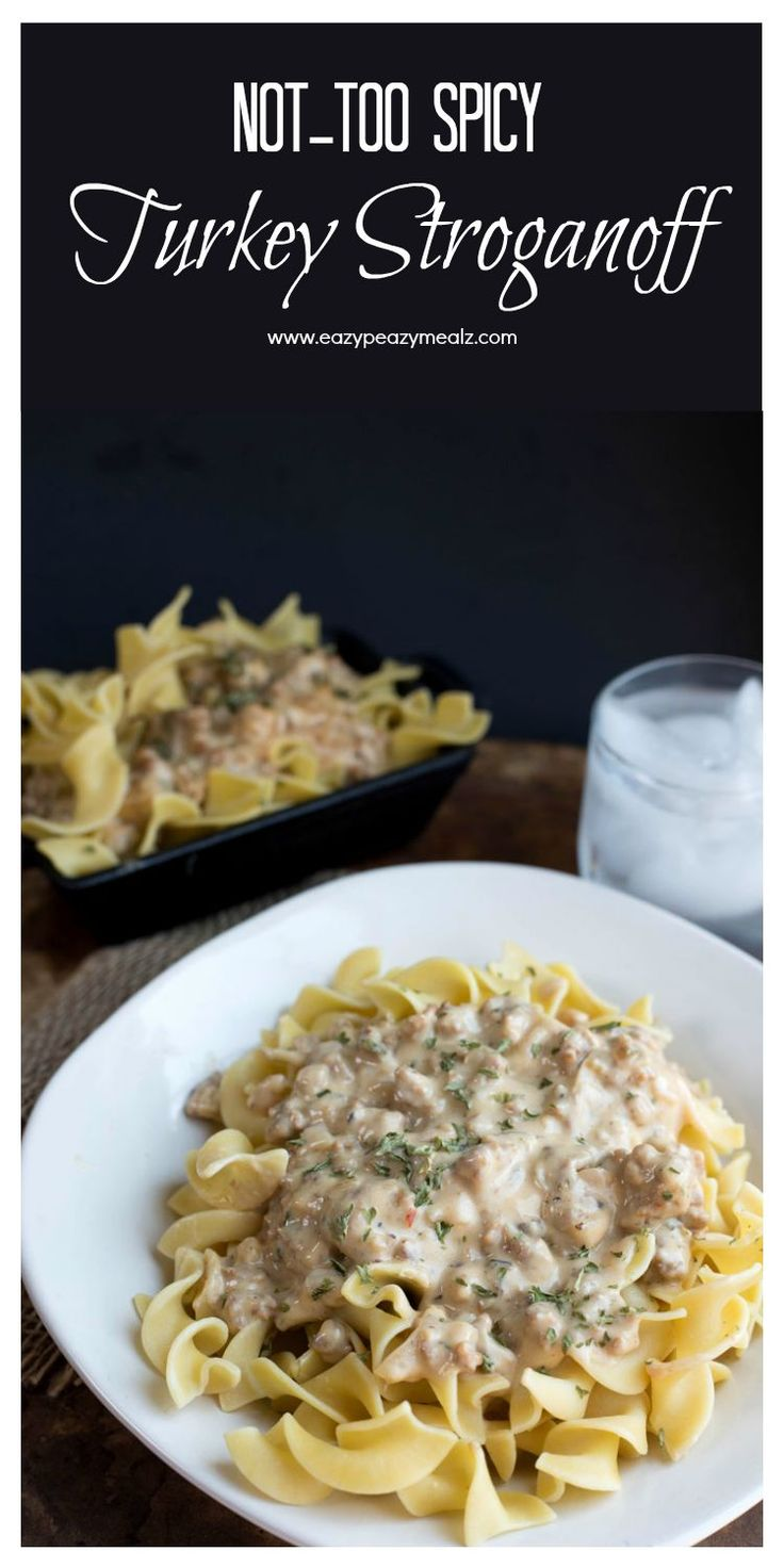 Not-Too Spicy Turkey Stroganoff is a 30 minute meal the whole family will love with Honeysuckle White Turkey! AD #SimpleTurkeyDinners #IC- Eazy Peazy Mealz