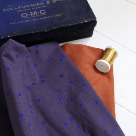 "Tissu ""Cosmic blue"" Atelier Brunette"