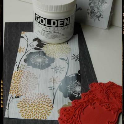 card makingEmbossing Image, Wet Gel, Gel Medium, Art Cards, Art Journals, Paper Art, Greeting Cards, Paper Crafts, Embossing Greeting