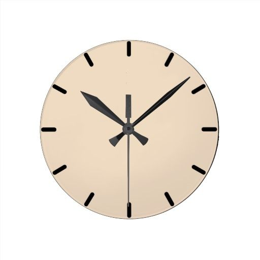 Barely Beige wall clock