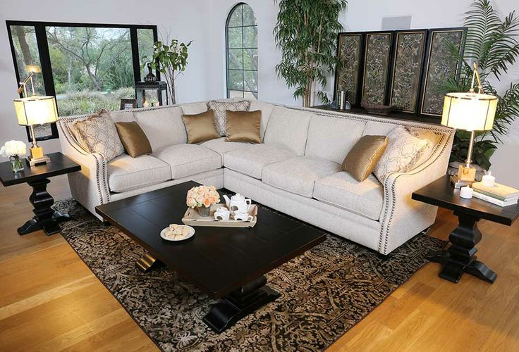 Maddox Sectional with nailhead trim | Decorating