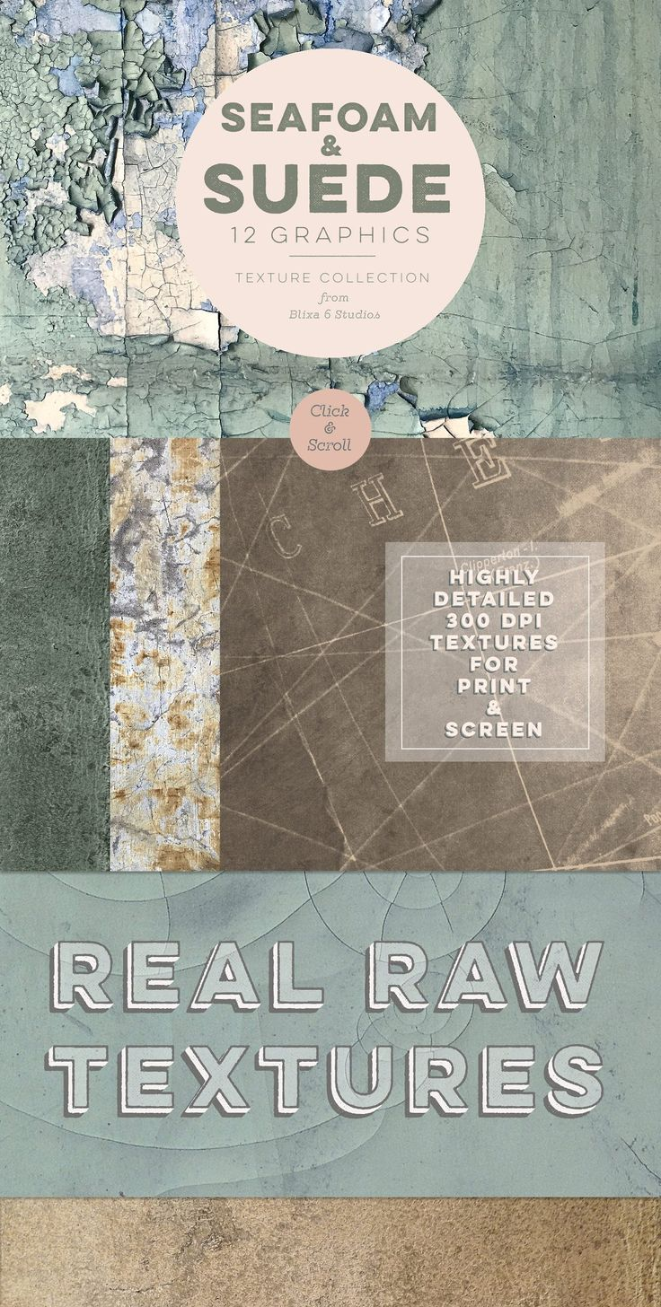 Seafoam & Suede Textured Backgrounds - Textures from Blixa 6 Studios, full of rugged and distressed textures - grab your set for only $11