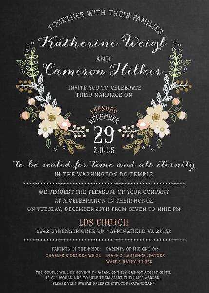 Lds Wedding Invitations | I Love This Only Gray Backround And My Colors As The Flowers