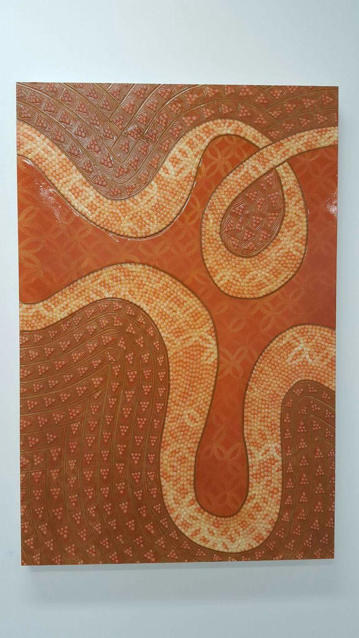 Lanumoli (Orange), 2015. Mixed Media. 120 x 79.5cm