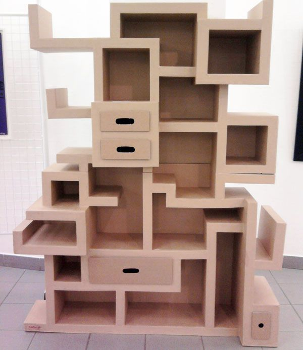 meuble carton01 meuble en carton pinterest cardboard furniture cardboard crafts and card. Black Bedroom Furniture Sets. Home Design Ideas