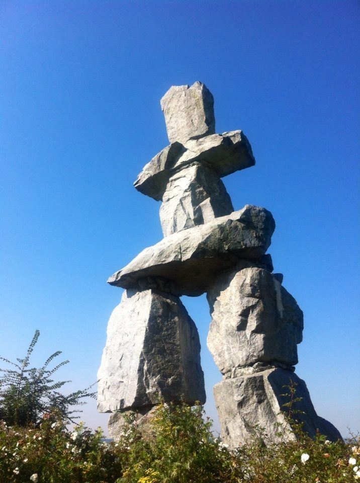 Inukshuk in English Bay - Vancouver BC