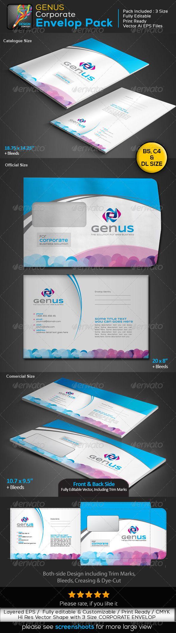 GENUS : Corporate Clean Creative Envelop Pack