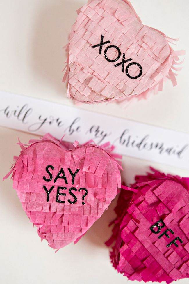 Forget traditional gift boxes, surprise your bridesmaids with this unique DIY Will You Be My Bridesmaid Piñata!