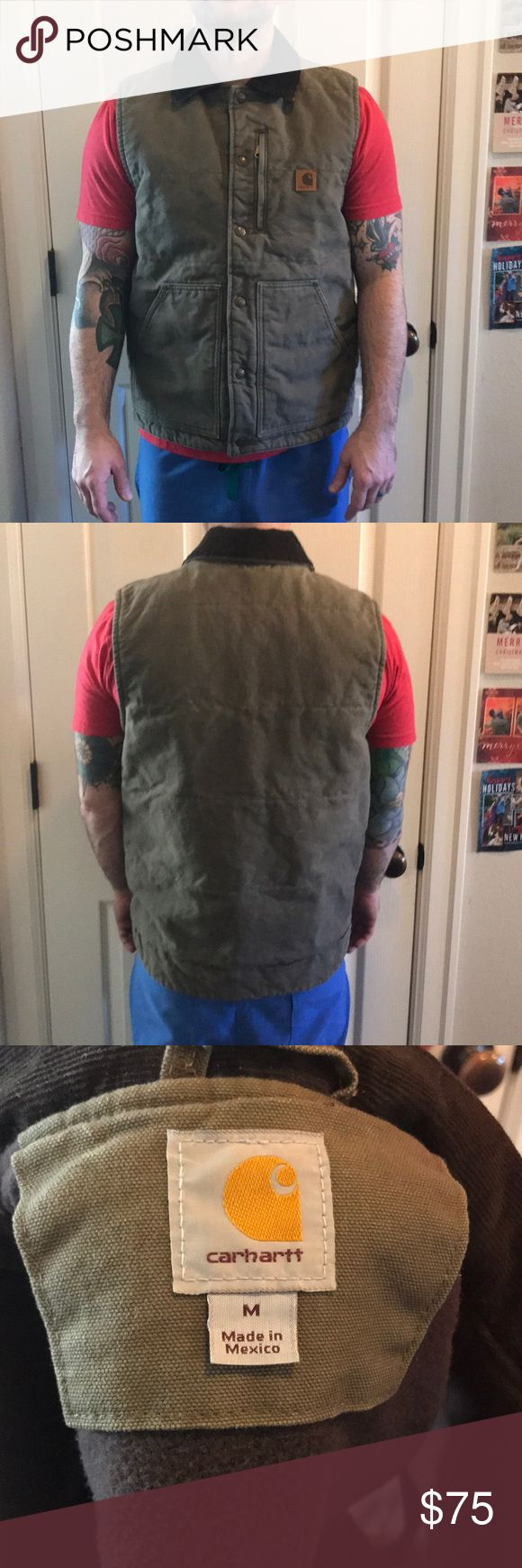 Carhartt Vest💥💥New Years Sale💥💥 Bought and never worn. In excellent condition. Snap closure and zippered pocket in front Carhartt Jackets & Coats Vests