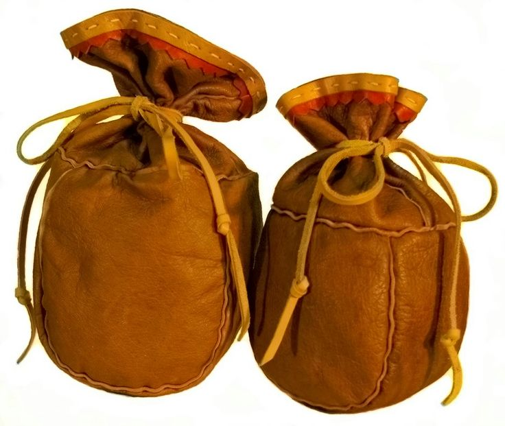 Raikko | Traditionally hand made genuin leather small sack. Goes with hiking / wilderness for ground coffee, sugar etc. Ambience to campfire!