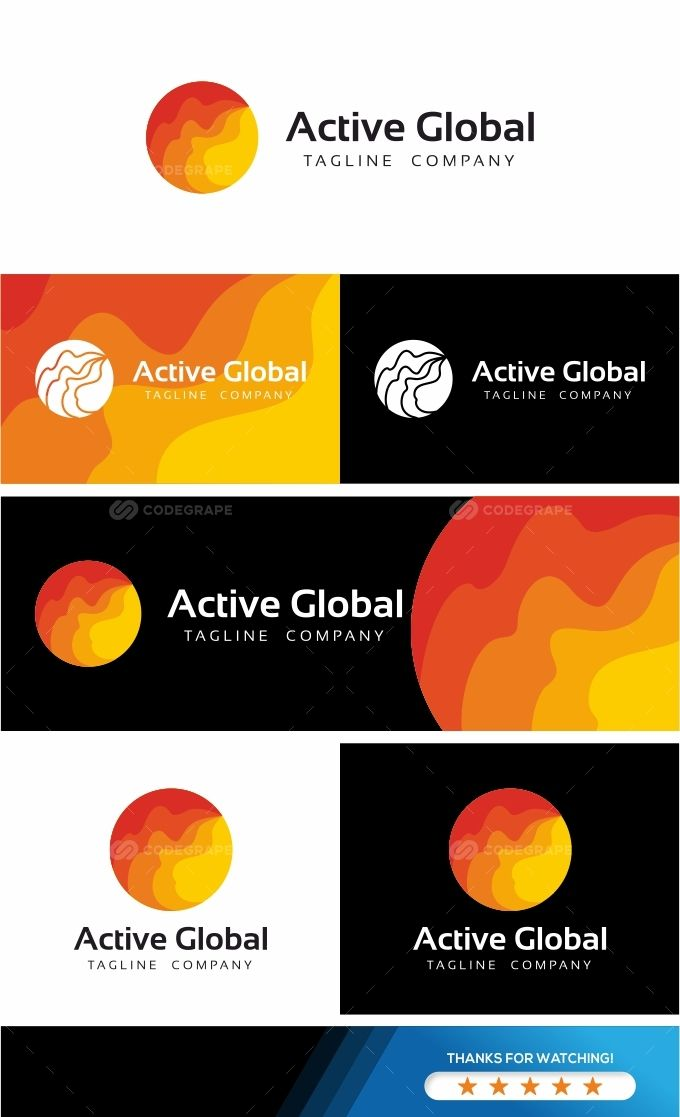 Active Global Logo Template on @codegrape. More Info: https://www.codegrape.com/item/active-global-logo-template/19637