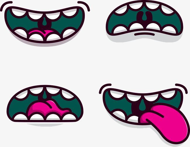4 Cartoon Mouth Design Vector Material Cartoon Vector Mouth Vector Ai Png Transparent Clipart Image And Psd File For Free Download Cartoon Mouths Cartoons Vector Cartoon
