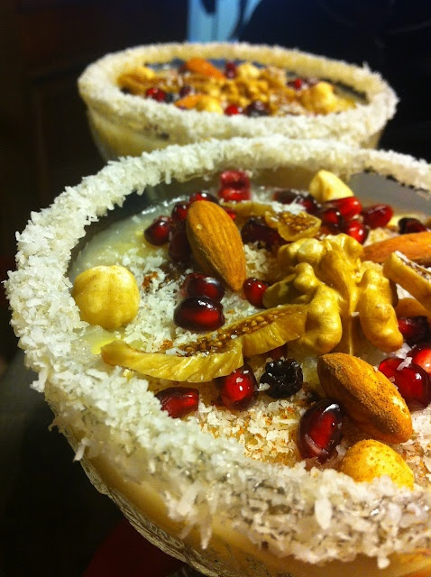 Aşure (Noah's Pudding), a Turkish dessert dish. العاشوراء طبق دمشقي موروث عن العثمانيين يقدم في الشتاء