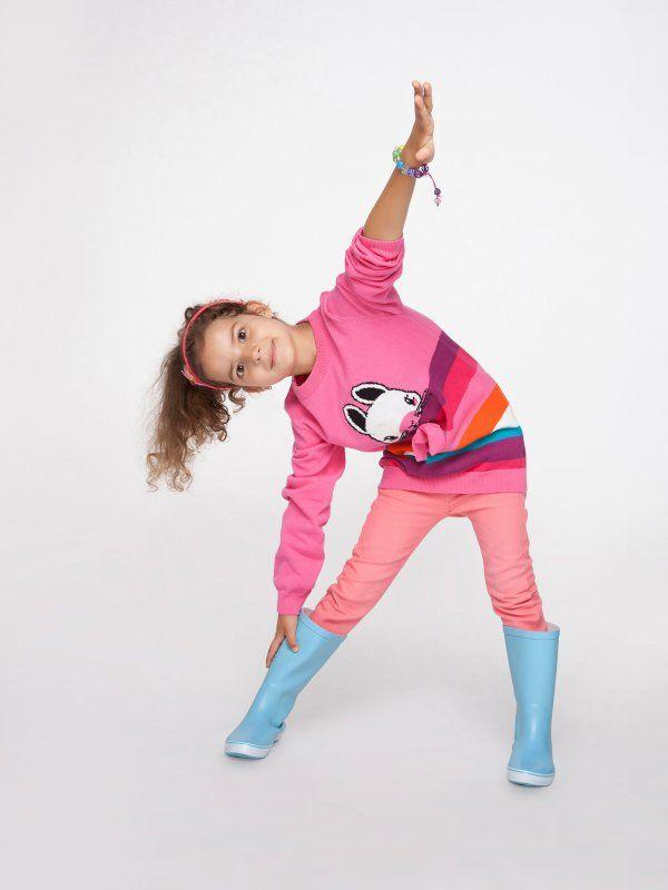 Różowy sweter z nadrukiem dla dziewczynki, #happykids
