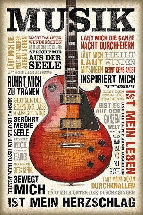 Amazon.de: REINDERS Musik Ist Leidenschaft   Wandbild 60 X 90 Cm   Bilder  Musik Bilder Art Musik Sprüche Instrumente Bilder Ideen U2026