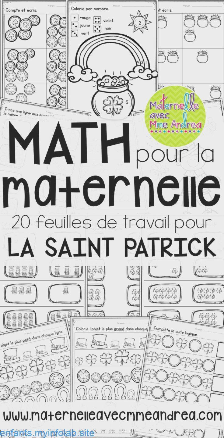 French Saint Patrick S Day No Prep Math Worksheets Kindergarten Maternelle Kindergarten Math Worksheets Kindergarten Worksheets St Patrick [ 1437 x 736 Pixel ]