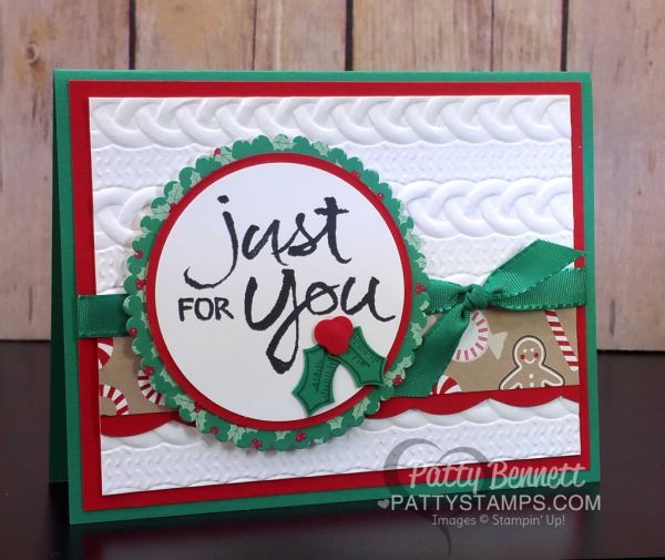 Easy Christmas Cards with Cable Knit Embossing Folder                                                                                                                                                                                 More