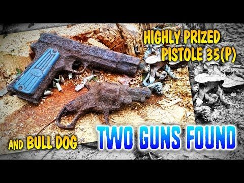 We found WW2 weapons spill! FB Vis - Pistole 35(p) and Bull Dog revolver. WW2 metal detecting - YouTube